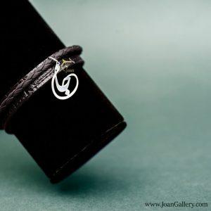 دستبند بافتدار چرم جان