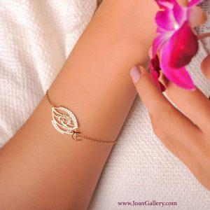 دستبند شیوه چشمت با زنجیر