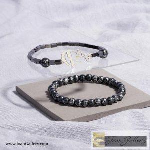 دستبند مردانه با پلاک هیچ