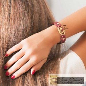 دستبند چرم عشق