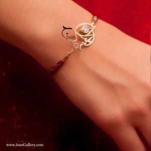 دستبند چرم بافت یلدای من
