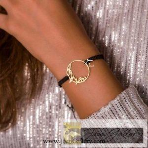 دستبند بافت دایره تقدیر