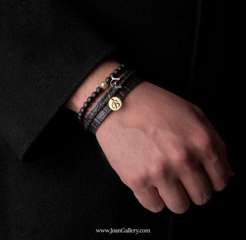 دستبند طلا حروف انگلیسی